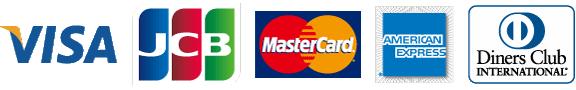 Mastercard VISA AmericanExpress JCB